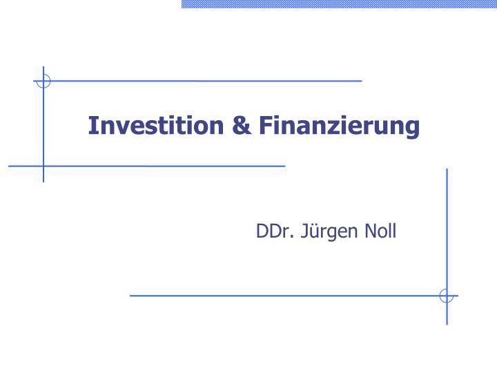 investition finanzierung n.