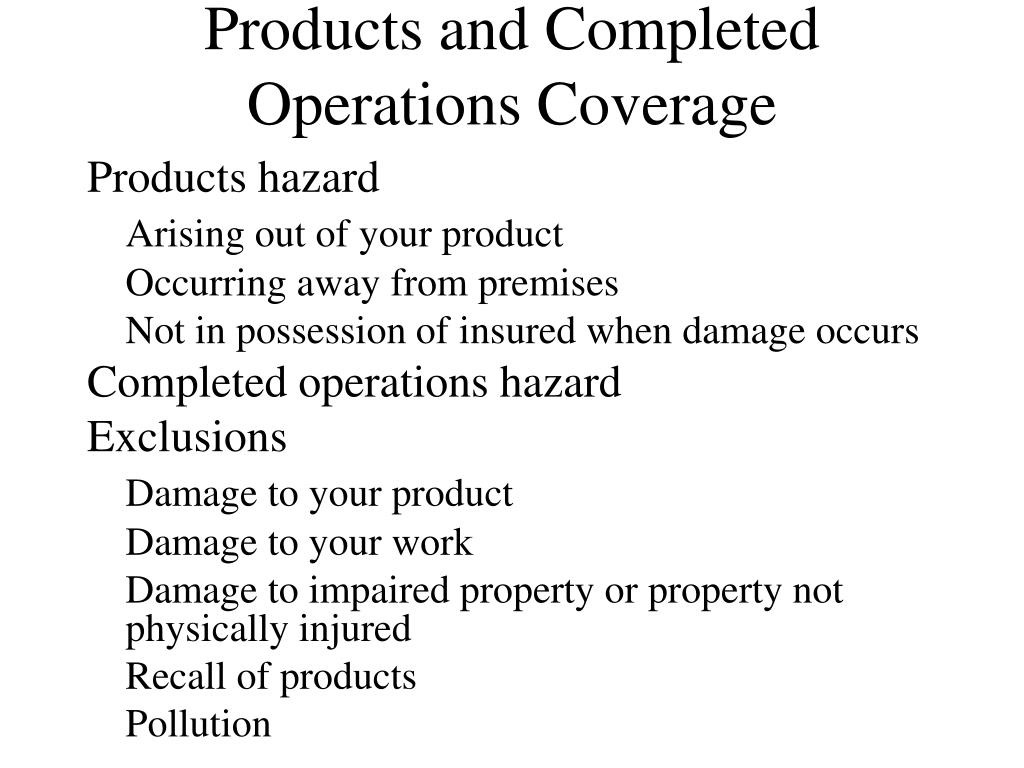 liability coverage cgl commercial general completed ppt powerpoint presentation insured