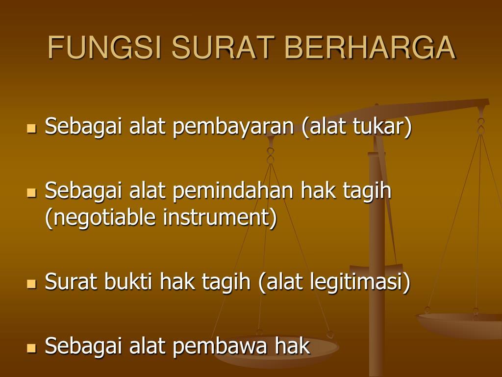 Ppt Surat Berharga Powerpoint Presentation Id3267012