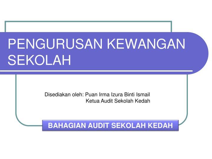 Laporan Audit Kewangan Sekolah