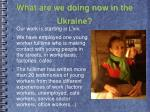 what are we doing now in the ukraine