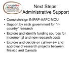 next steps administrative support
