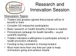 research and innovation session1