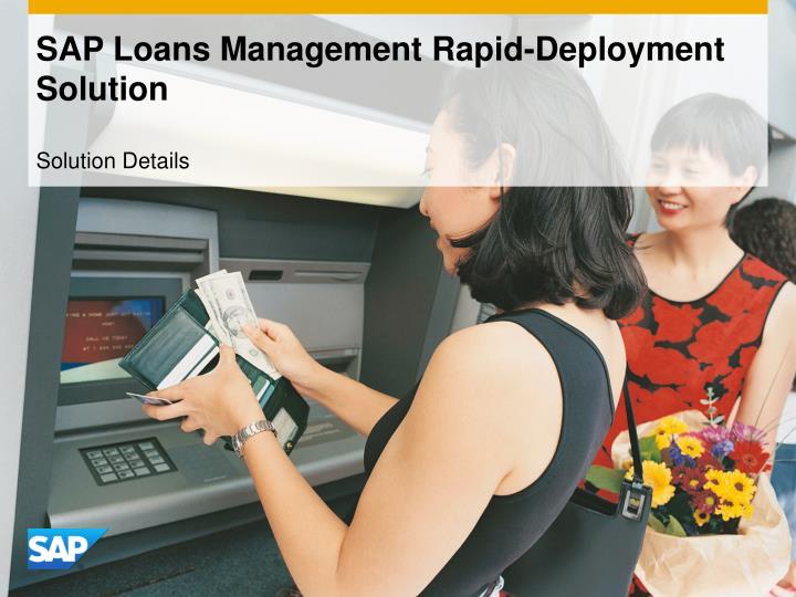 sap loans management rapid deployment solution n.