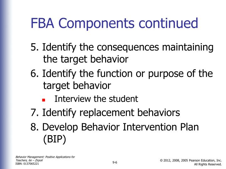 FBA Components continued