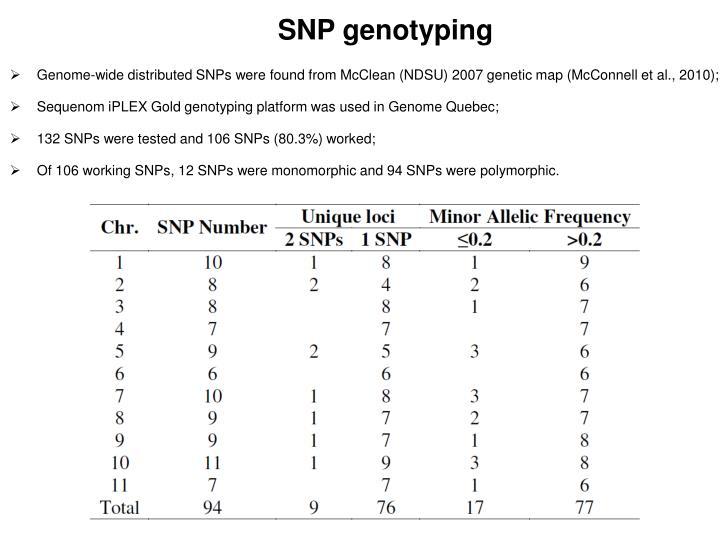 SNP genotyping
