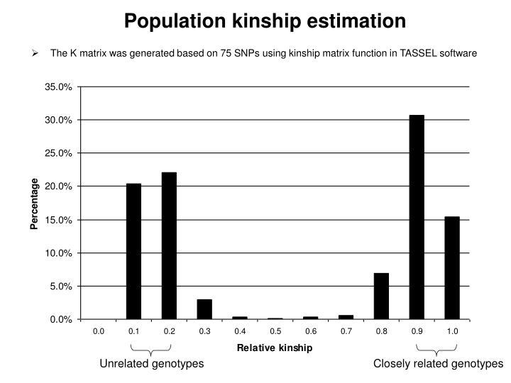 Population kinship estimation