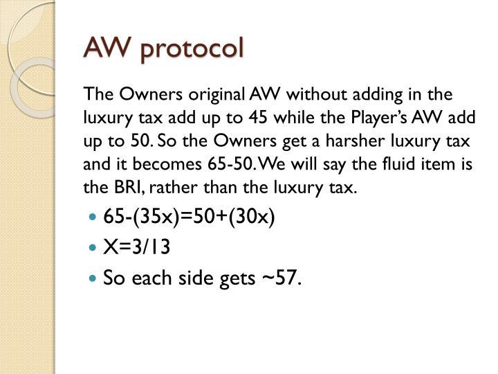 AW protocol