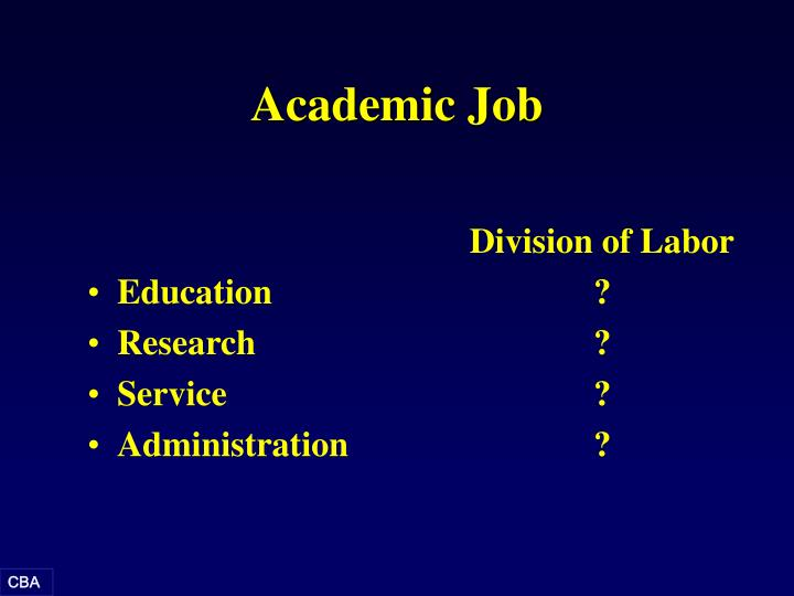 Academic Job