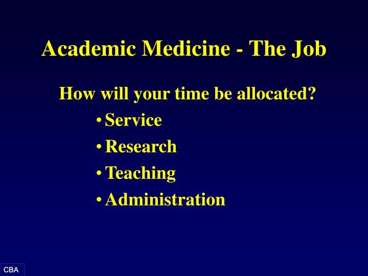 Academic Medicine - The Job