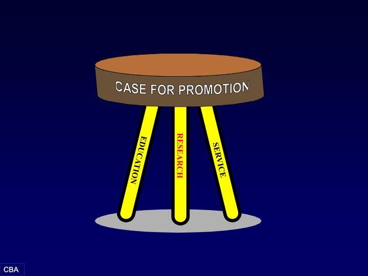 CASE FOR PROMOTION