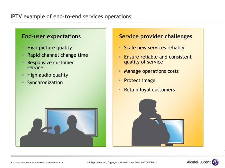 IPTV example of end-to-end services operations