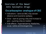 overview of the newer anti epileptic drugs1