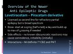 overview of the newer anti epileptic drugs2