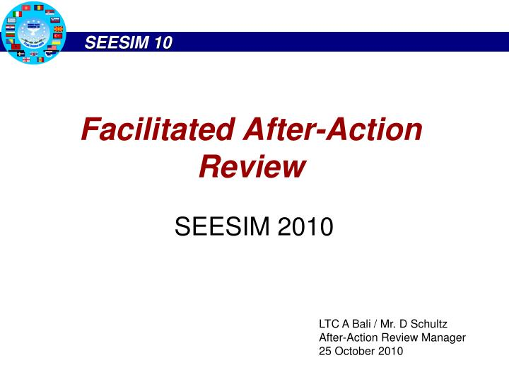facilitated after action review n.