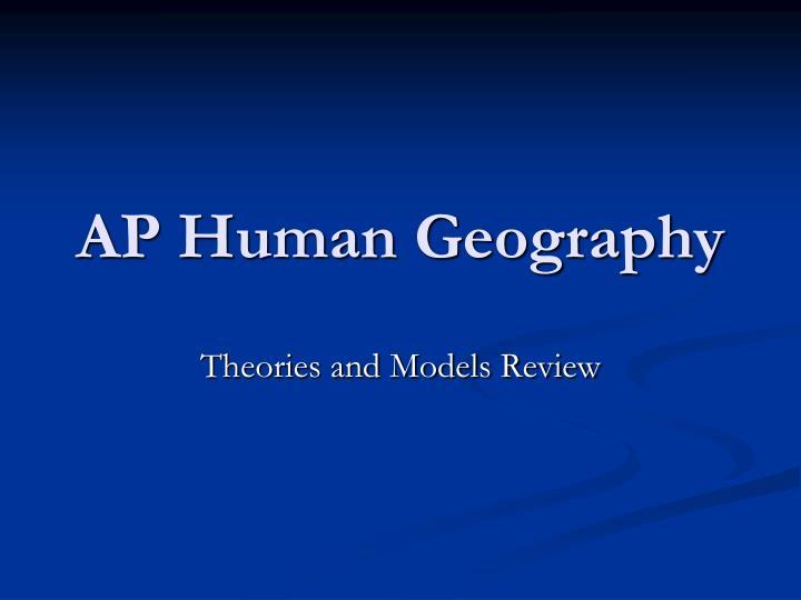 ap human geography n.