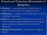 forced and voluntary movements of religions
