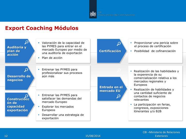 Export Coaching Módulos