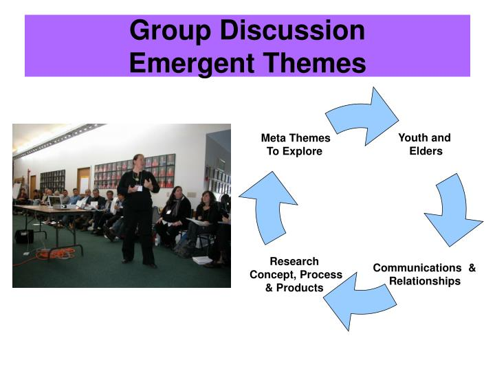 Group discussion emergent themes