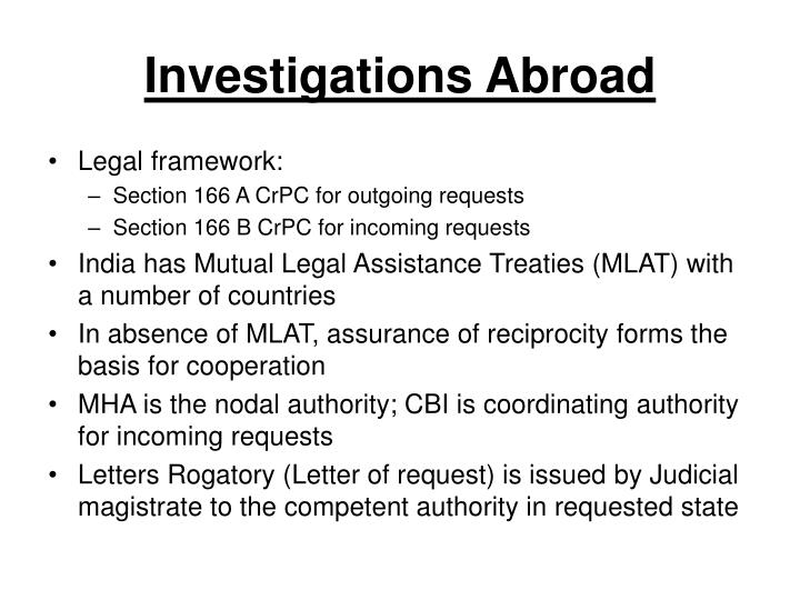 Investigations Abroad