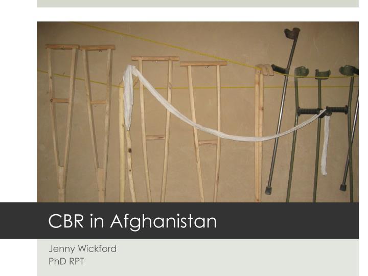 cbr in afghanistan n.