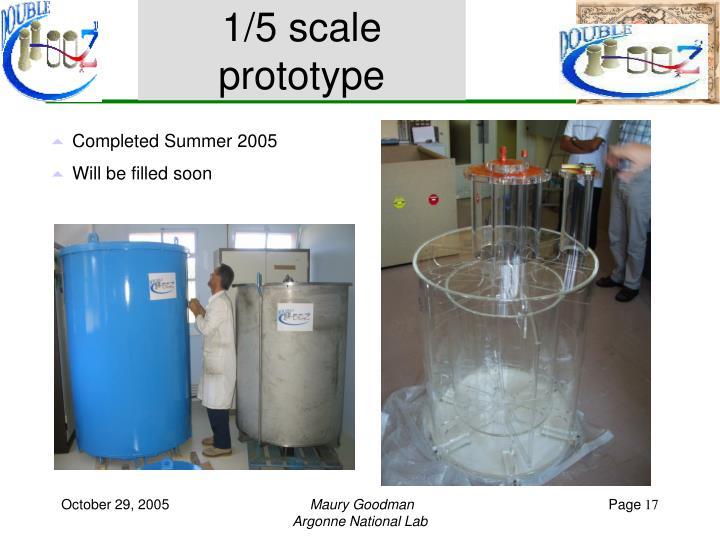 1/5 scale prototype