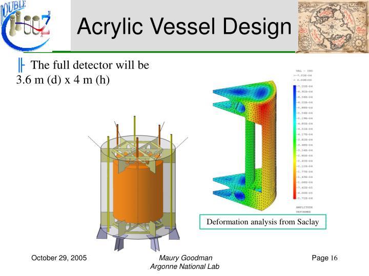 Acrylic Vessel Design