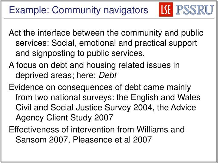 Example: Community navigators