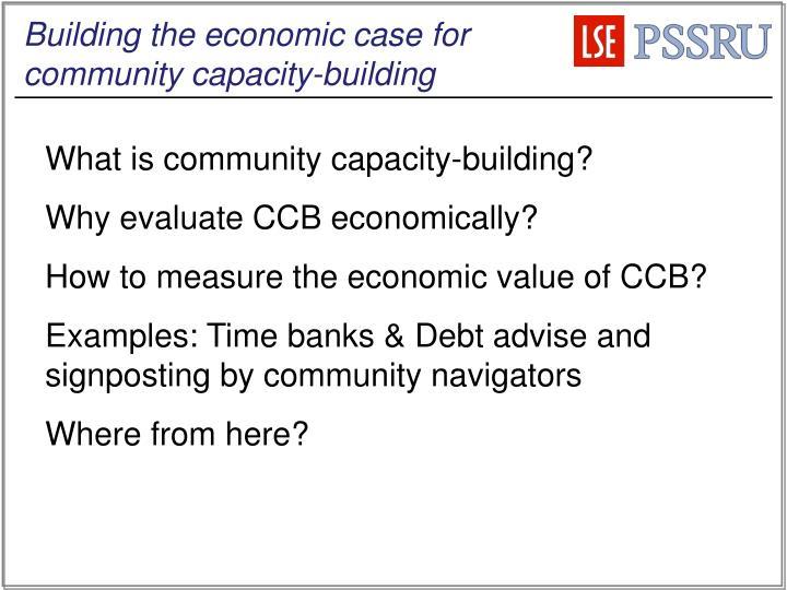 Building the economic case for community capacity-building