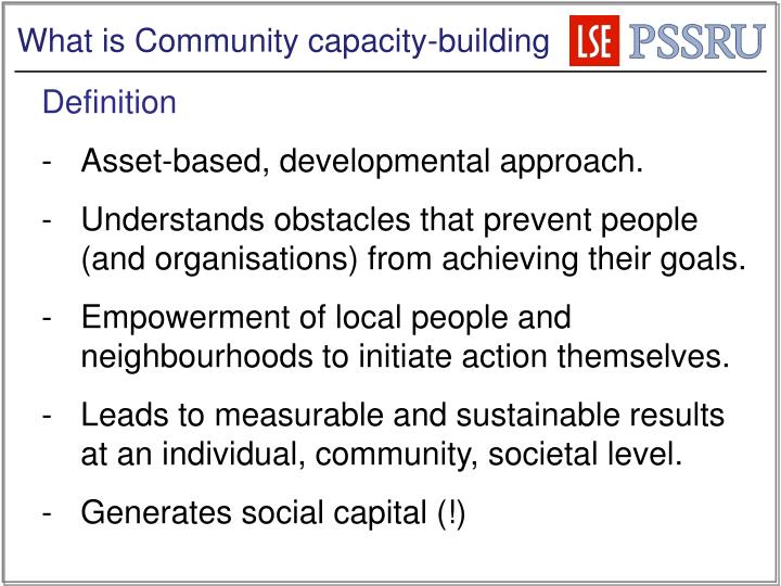 What is Community capacity-building