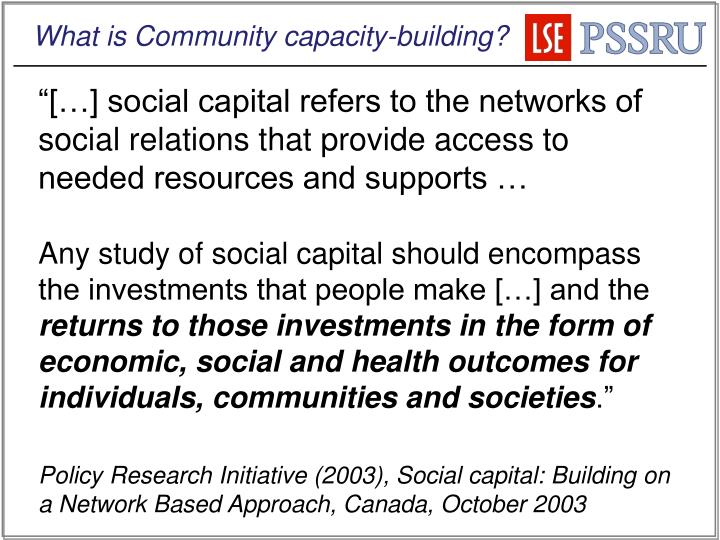 What is Community capacity-building?
