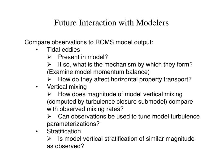 Future Interaction with Modelers
