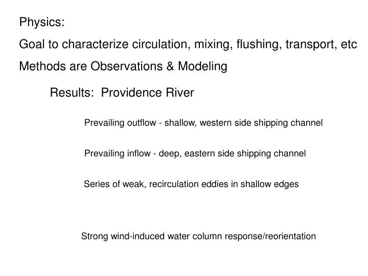 Results:  Providence River