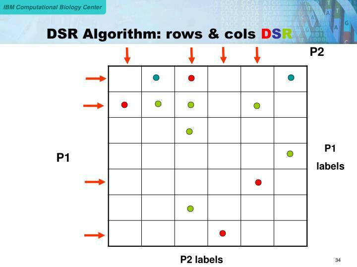 DSR Algorithm: rows & cols