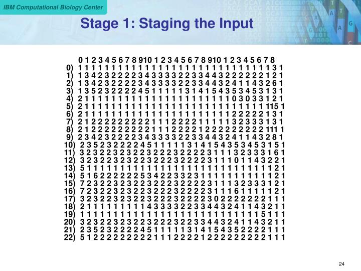Stage 1: Staging the Input