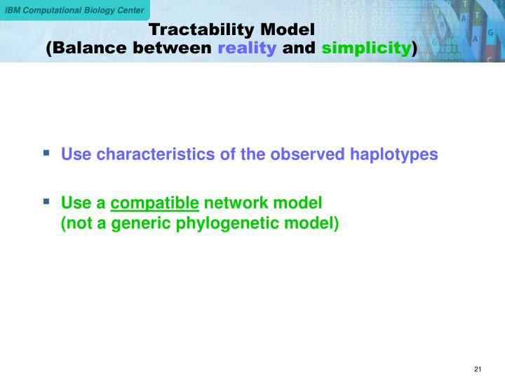 Tractability Model
