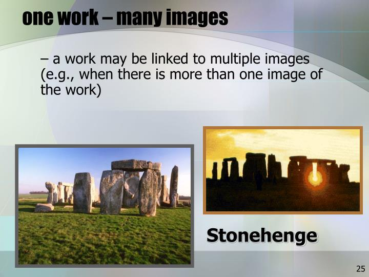one work – many images