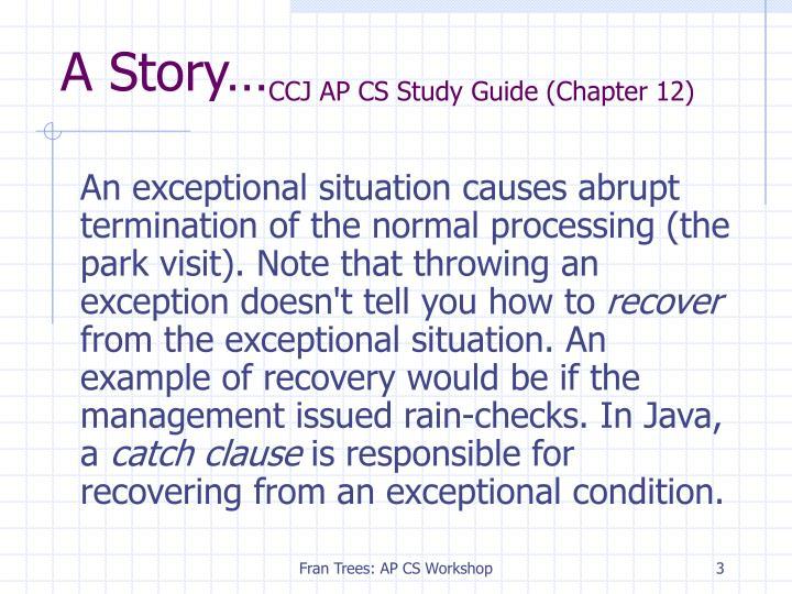 A story ccj ap cs study guide chapter 12