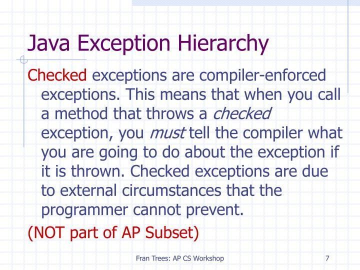 Java Exception Hierarchy