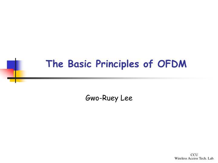 the basic principles of ofdm n.