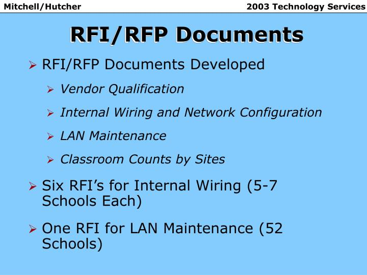 Rfi rfp documents