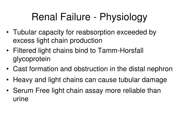 Renal Failure - Physiology