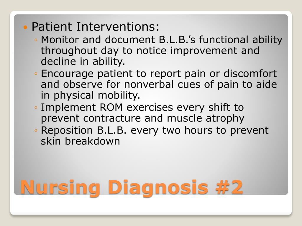PPT - Nursing Diagnosis #1 PowerPoint Presentation, free ...