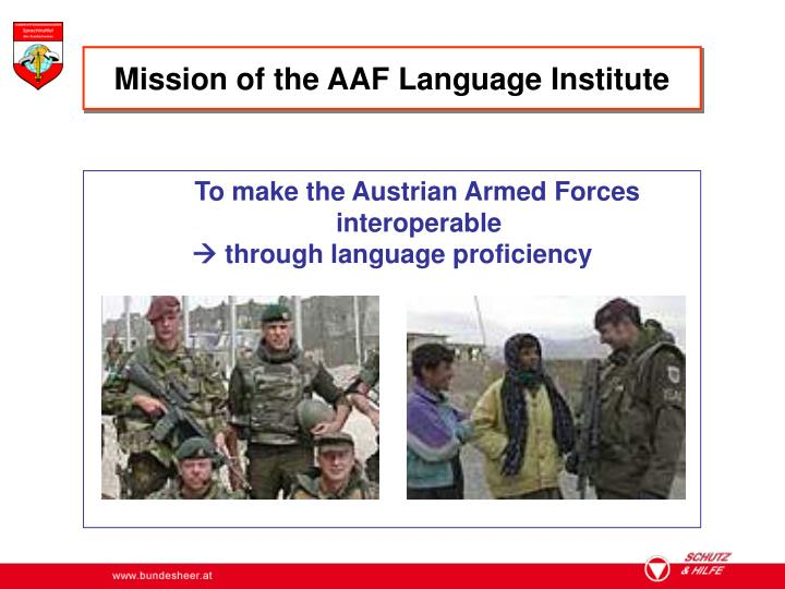 Mission of the AAF Language Institute