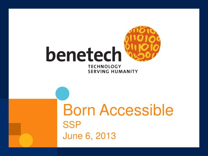 born accessible ssp june 6 2013 n.