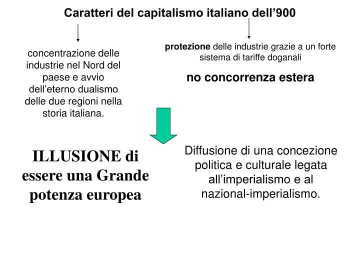 Caratteri del capitalismo italiano dell'900