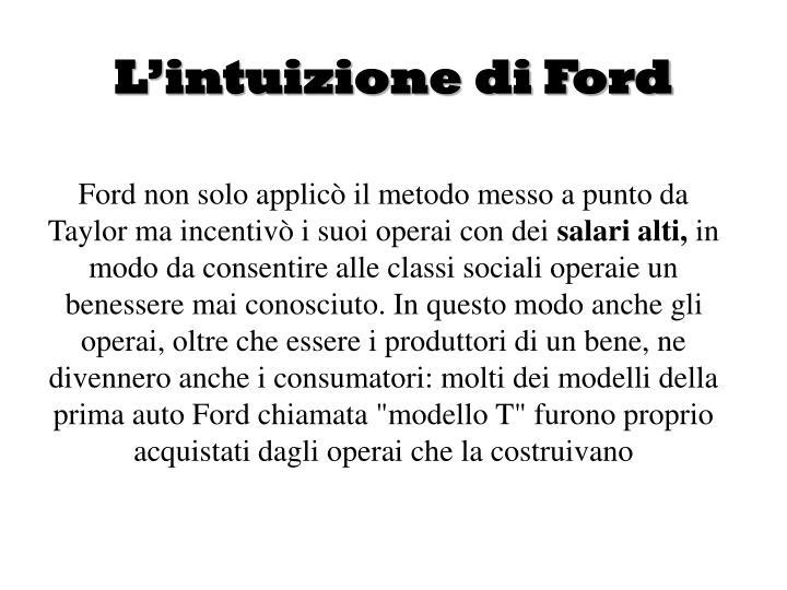 L'intuizione di Ford