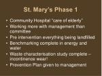st mary s phase 1