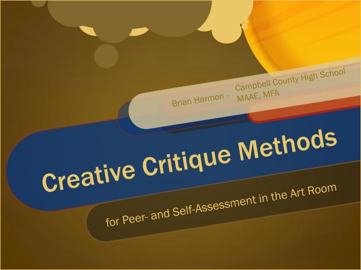 creative critique methods n.