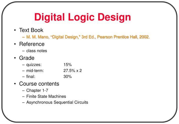 digital logic design n.